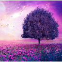 icon Purple Tree